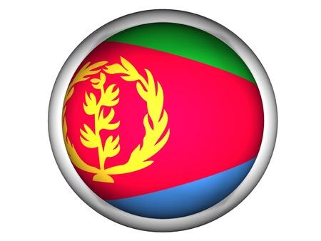 eritrea: National Flag of Eritrea | Button Style |  Isolated
