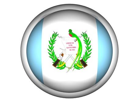National Flag of Guatemala | Button Style |  Isolated photo