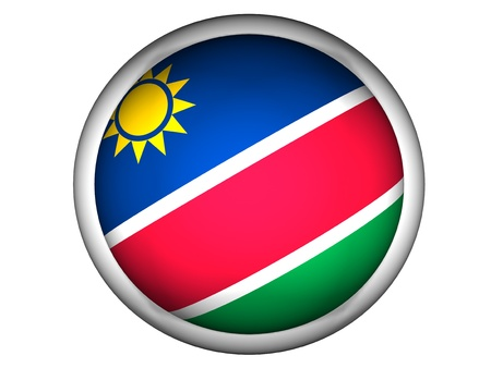 National Flag of Namibia | Button Style |  Isolated photo