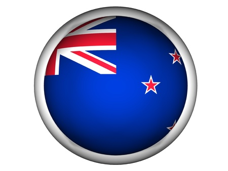 National Flag of New Zealand | Button Style |  Isolated photo
