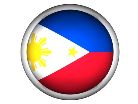 National Flag of Philippines | Button Style |  Isolated photo