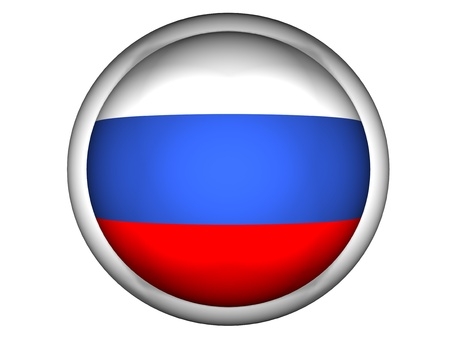 national colors: National Flag of Russia | Button Style |  Isolated