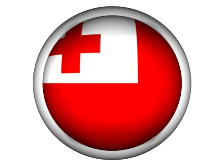 tonga: National Flag of Tonga | Button Style |  Isolated