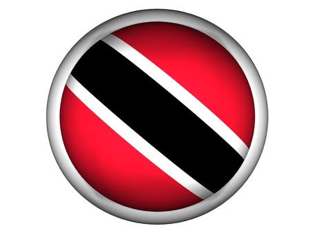 national flag trinidad and tobago: National Flag of Trinidad and Tobago | Button Style |  Isolated