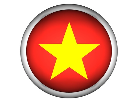National Flag of Vietnam | Button Style |  Isolated photo