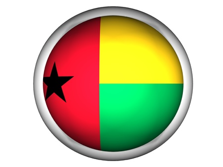 National Flag of Guinea | Button Style |  Isolated photo