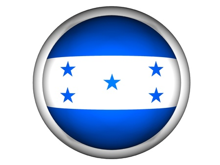 National Flag of Honduras | Button Style |  Isolated photo