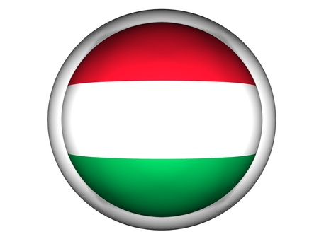 National Flag of Hungary | Button Style |  Isolated photo
