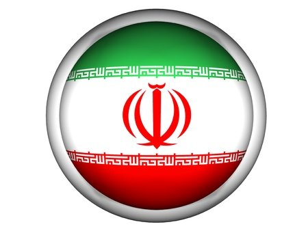 National Flag of Iran | Button Style |  Isolated photo