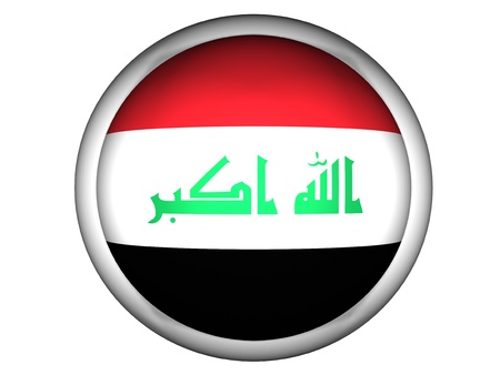 National Flag of Iraq | Button Style |  Isolated photo