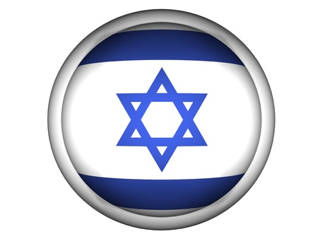 National Flag of Israel | Button Style |  Isolated