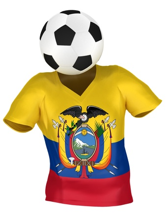 National Soccer Team of Ecuador | All Teams Collection |  Isolated Stock Photo