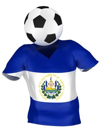 bandera de el salvador: Selecci�n de f�tbol del Salvador   Colecci�n de todos los equipos    Aislado Foto de archivo