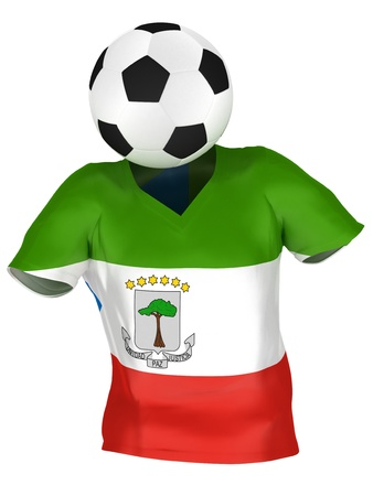 equatorial: National Soccer Team of Equatorial Guinea   All Teams Collection    Isolated Stock Photo