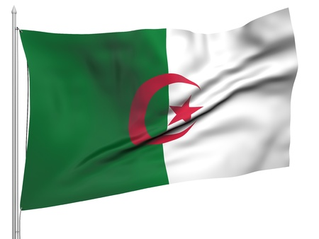 Flying Flag of Algeria  Stock Photo - 9832527