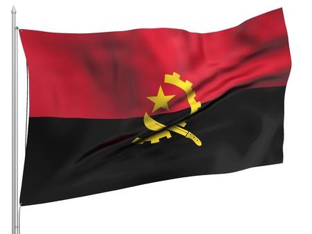 angola: Flying Flag of Angola