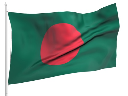 bangladesh: Flying Flag of Bangladesh