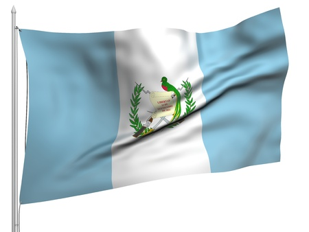 Flying Flag of Guatemala  photo