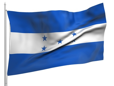 Flying Flag of Honduras  photo