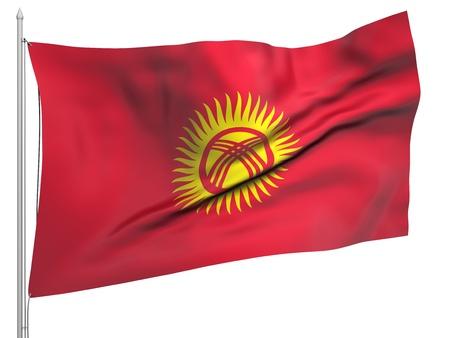 kyrgyzstan: Enarbole el pabell�n de Kirguizist�n