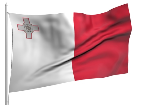 malta: Flying Flag of Malta