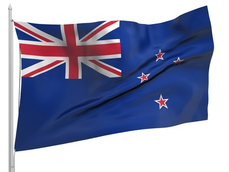 Flying Flag of New Zealand  photo