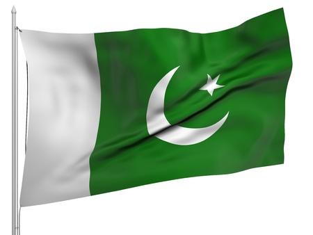 flag of pakistan: Flying Flag of Pakistan