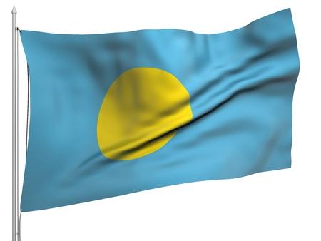 Flying Flag of Palau  photo