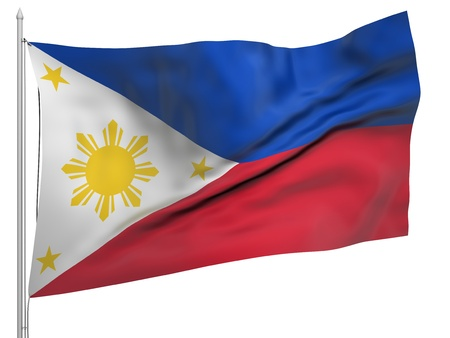 Flying Flag of Philippines