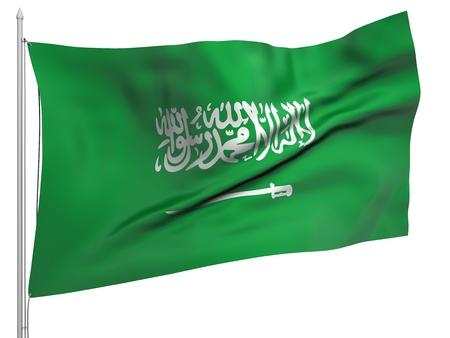 saudi: Flying Flag of Saudi Arabia