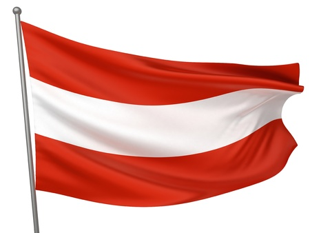 Austria National Flag  | All Countries Collection - Isolated Image