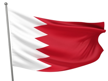 bahrain: Bahrain National Flag  | All Countries Collection - Isolated Image