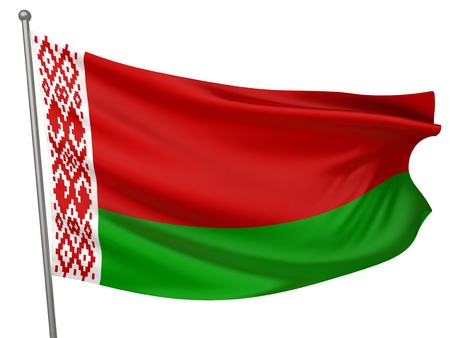belarus: Belarus National Flag  | All Countries Collection - Isolated Image Stock Photo