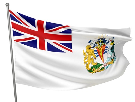 antarctic: British Antarctic Territory National Flag  | All Countries Collection - Isolated Image