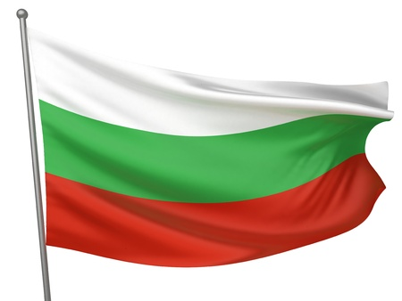 Bulgaria National Flag  | All Countries Collection - Isolated Image Stock Photo