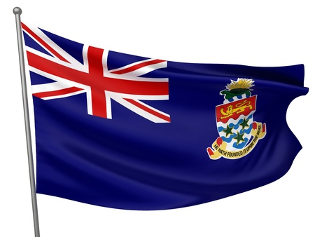 cayman islands: Cayman Islands National Flag  | All Countries Collection - Isolated Image
