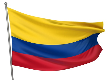 standards: Colombia National Flag  | All Countries Collection - Isolated Image