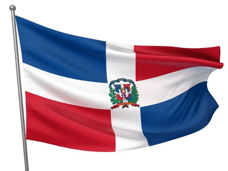 Dominican Republic National Flag  | All Countries Collection - Isolated Image Stok Fotoğraf