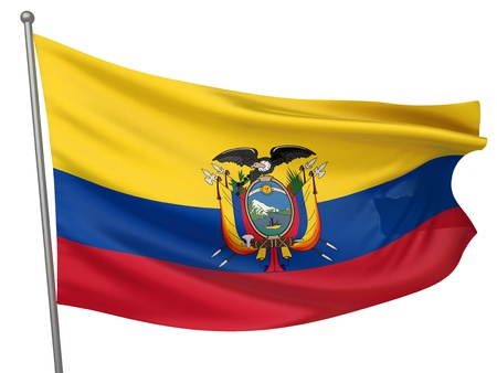 Ecuador National Flag  | All Countries Collection - Isolated Image Stock Photo