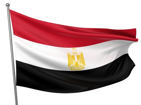 Egypt National Flag  | All Countries Collection - Isolated Image Stock Photo