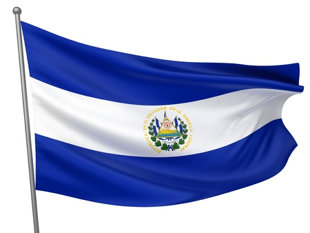 El Salvador National Flag  | All Countries Collection - Isolated Image photo