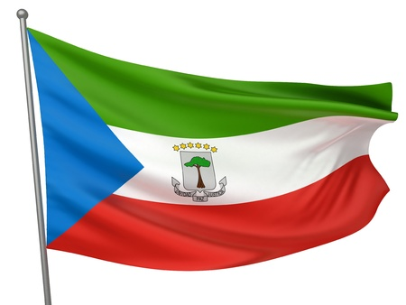 equatorial guinea: Equatorial Guinea National Flag  | All Countries Collection - Isolated Image