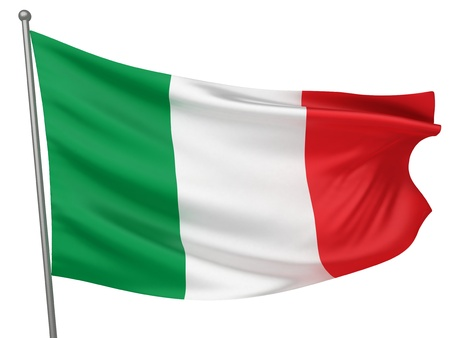 italien flagge: Italien Nationalflagge | Alle L�nder Collection - Freisteller Lizenzfreie Bilder