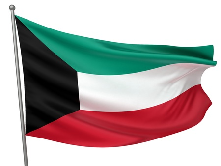 Kuwait National Flag  | All Countries Collection - Isolated Image