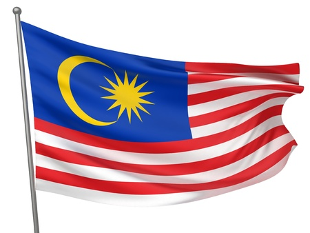 Malaysia National Flag  | All Countries Collection - Isolated Image