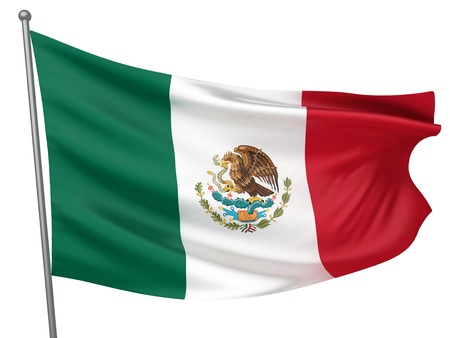 Mexico National Flag  | All Countries Collection - Isolated Image