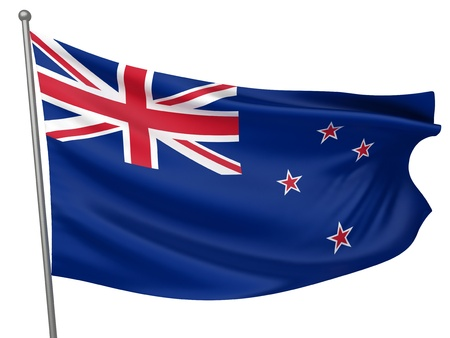 New Zealand National Flag  | All Countries Collection - Isolated Image photo