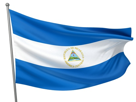 Nicaragua National Flag  | All Countries Collection - Isolated Image photo