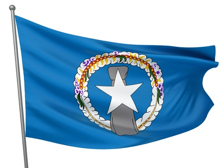 mariana: Northern Mariana Islands National Flag  | All Countries Collection - Isolated Image