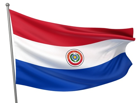 paraguay: Paraguay National Flag  | All Countries Collection - Isolated Image Stock Photo